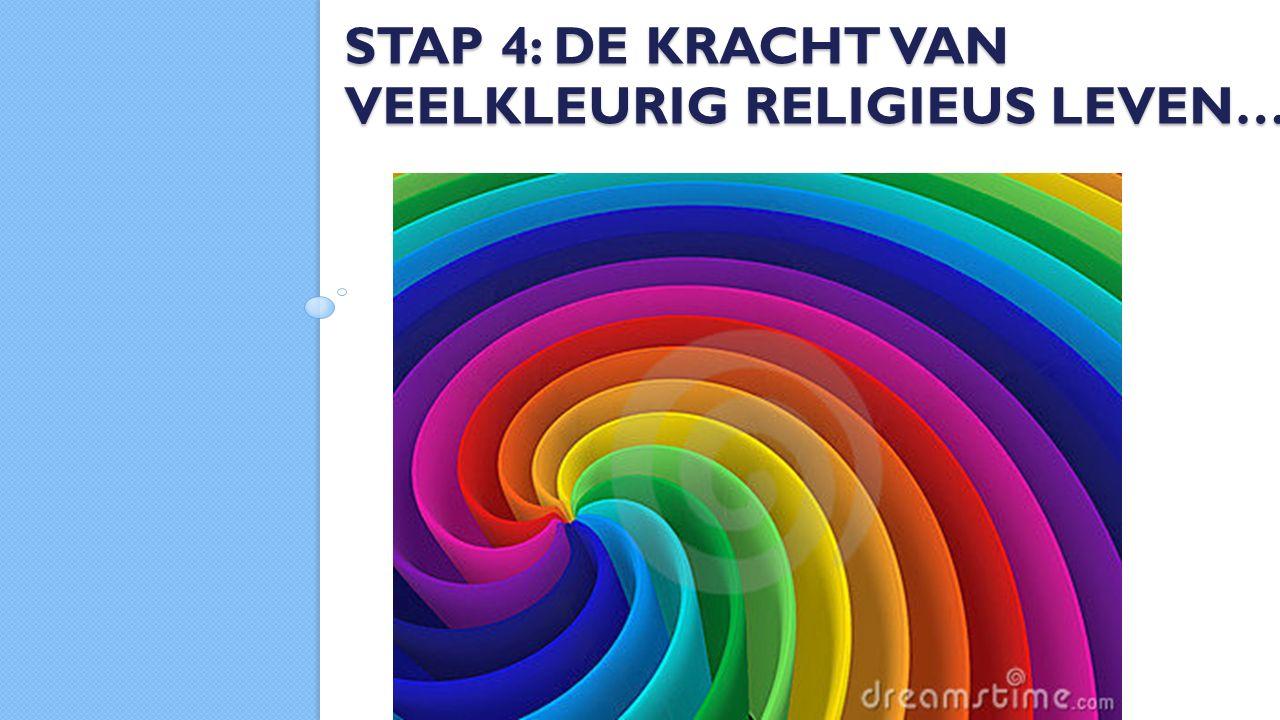 STAP 4: DE KRACHT VAN VEELKLEURIG RELIGIEUS LEVEN…