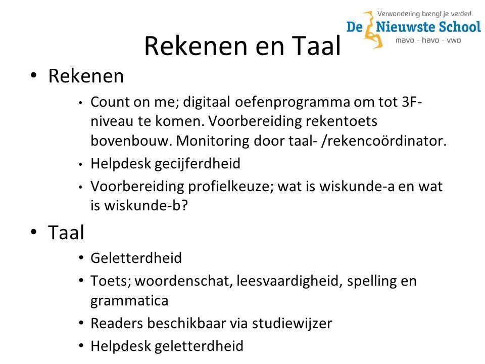 Rekenen en Taal Rekenen Count on me; digitaal oefenprogramma om tot 3F- niveau te komen.