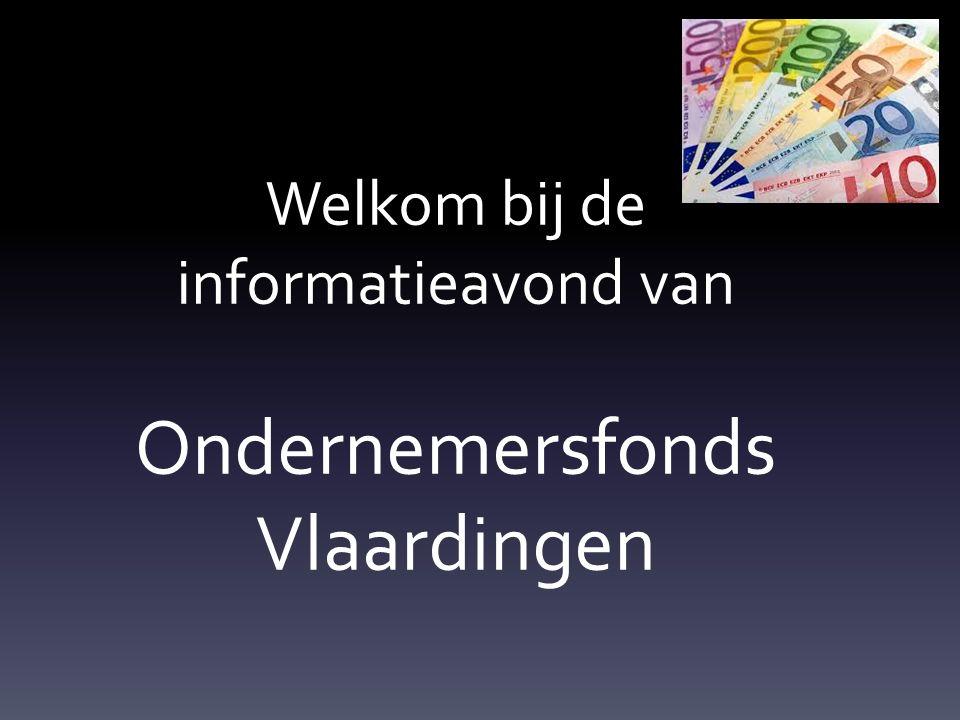 Welkom bij de informatieavond van Ondernemersfonds Vlaardingen