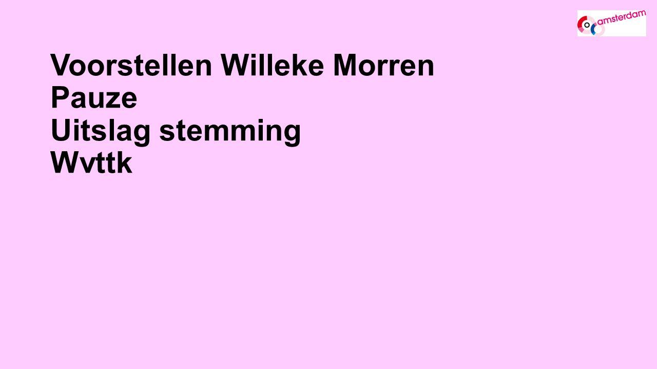 Voorstellen Willeke Morren Pauze Uitslag stemming Wvttk