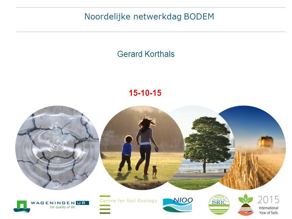 15-10-15 Gerard Korthals Noordelijke netwerkdag BODEM