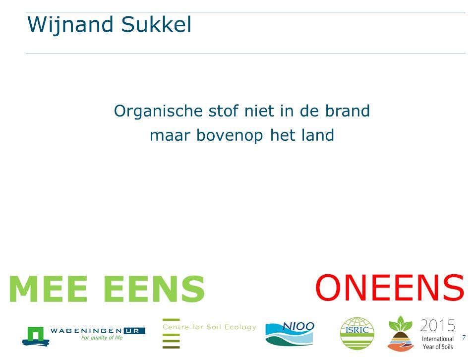 Nick van Eekeren Waterregulatie van de bodem is meer dan organische stof. 8 ONEENS MEE EENS