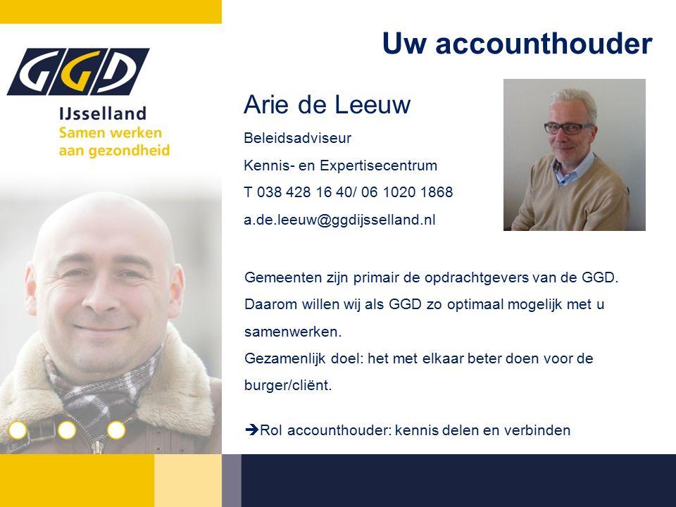 Uw accounthouder Gemeenten zijn primair de opdrachtgevers van de GGD.