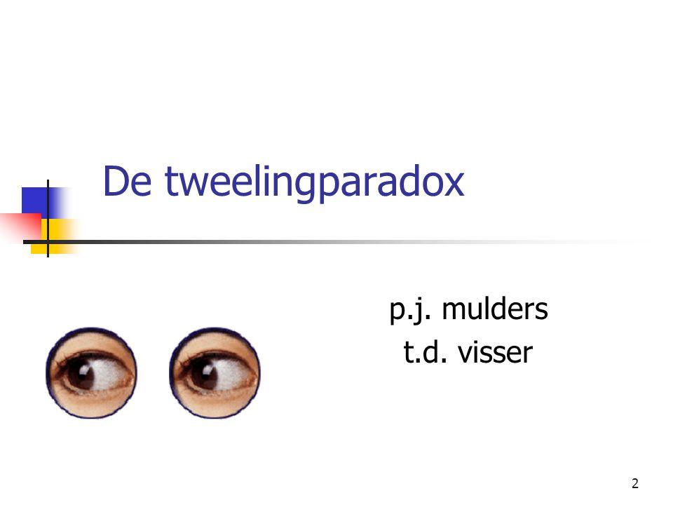 2 De tweelingparadox p.j. mulders t.d. visser