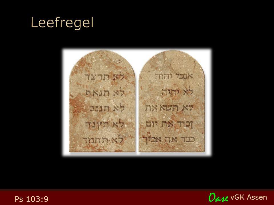 vGK Assen Oase Ps 103:9