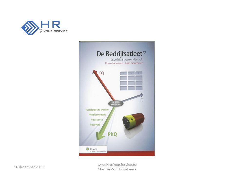 16 december 2015 www.HratYourService.be Marijke Van Hoorebeeck Gedachten…..