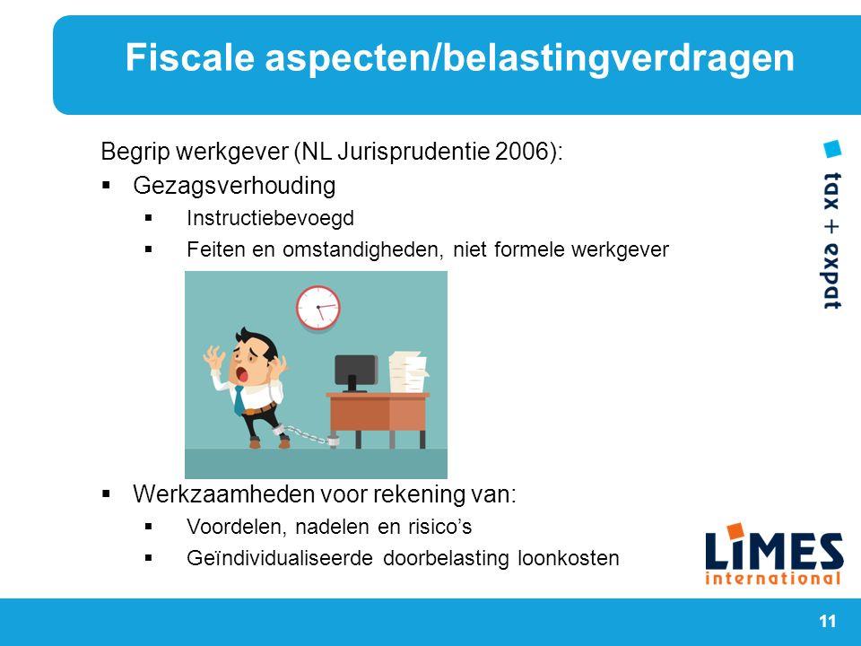 11 Begrip werkgever (NL Jurisprudentie 2006):  Gezagsverhouding  Instructiebevoegd  Feiten en omstandigheden, niet formele werkgever  Werkzaamhede
