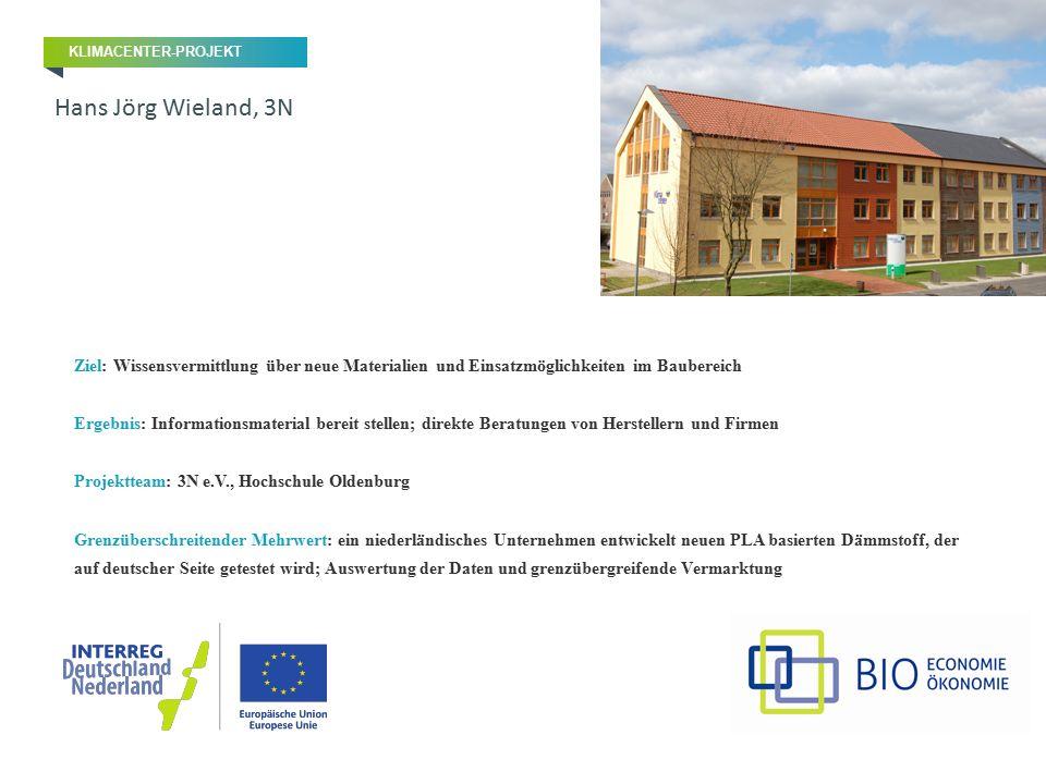 Ziel: Wissensvermittlung über neue Materialien und Einsatzmöglichkeiten im Baubereich Ergebnis: Informationsmaterial bereit stellen; direkte Beratunge
