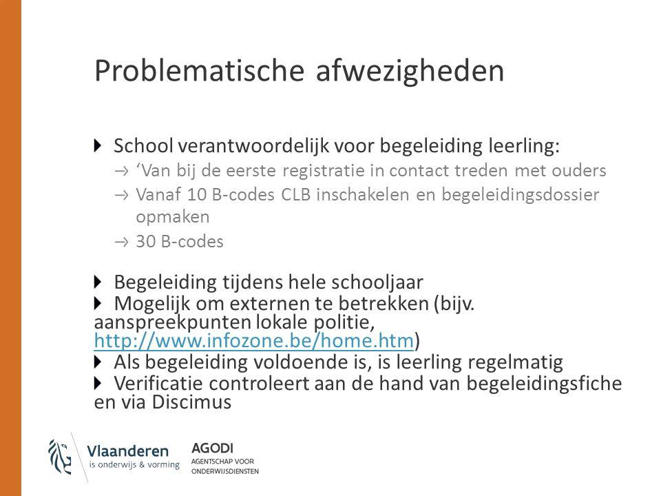 Problematische afwezigheden School verantwoordelijk voor begeleiding leerling: 'Van bij de eerste registratie in contact treden met ouders Vanaf 10 B-