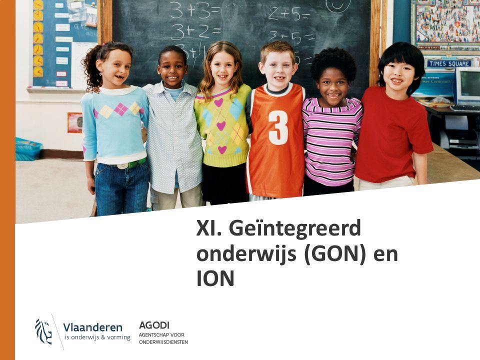 XI. Geïntegreerd onderwijs (GON) en ION