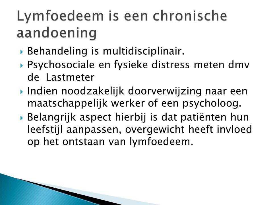  Behandeling is multidisciplinair.