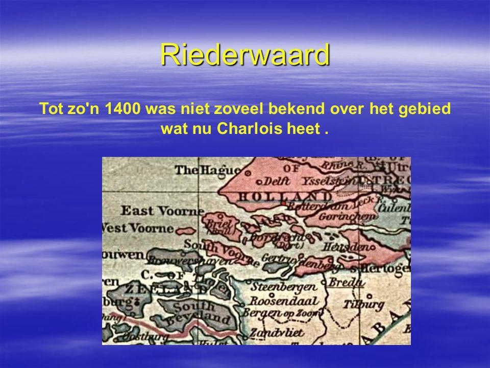 Riederwaard Tot zo'n 1400 was niet zoveel bekend over het gebied wat nu Charlois heet.