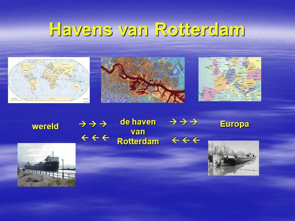 Havens van Rotterdam                                     wereld de haven van Rotterdam Europa