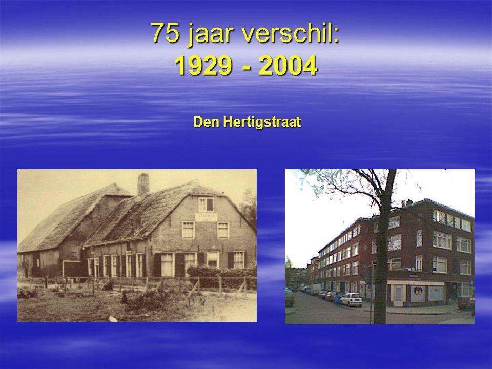 75 jaar verschil: 1929 - 2004 Den Hertigstraat
