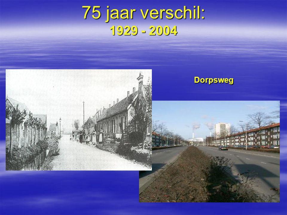 Dorpsweg 75 jaar verschil: 1929 - 2004
