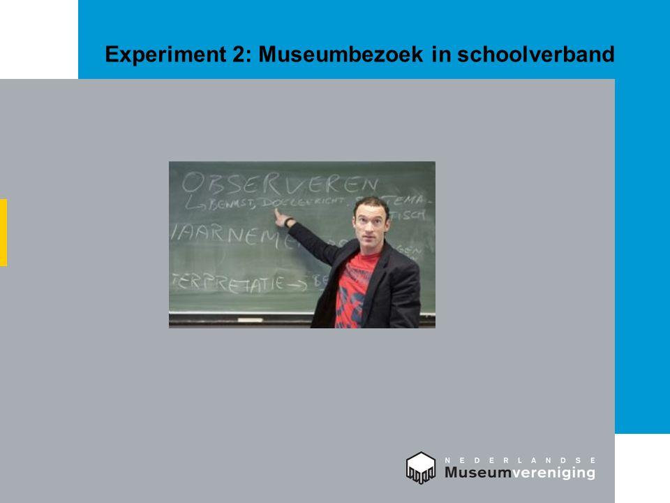 Experiment 2: Museumbezoek in schoolverband
