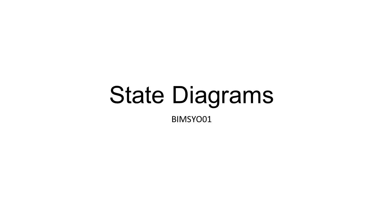 State Diagrams BIMSYO01