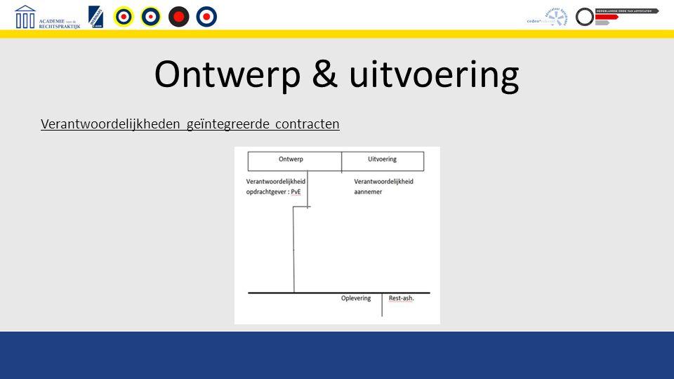 Ontwerp & uitvoering Verantwoordelijkheden geïntegreerde contracten