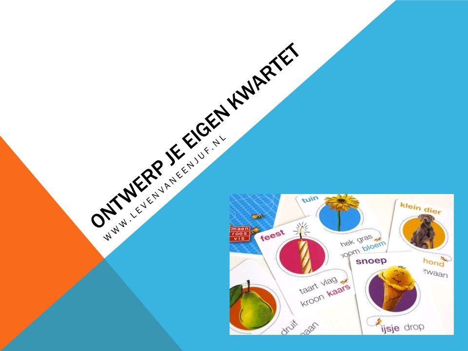 ONTWERP JE EIGEN KWARTET WWW.LEVENVANEENJUF.NL