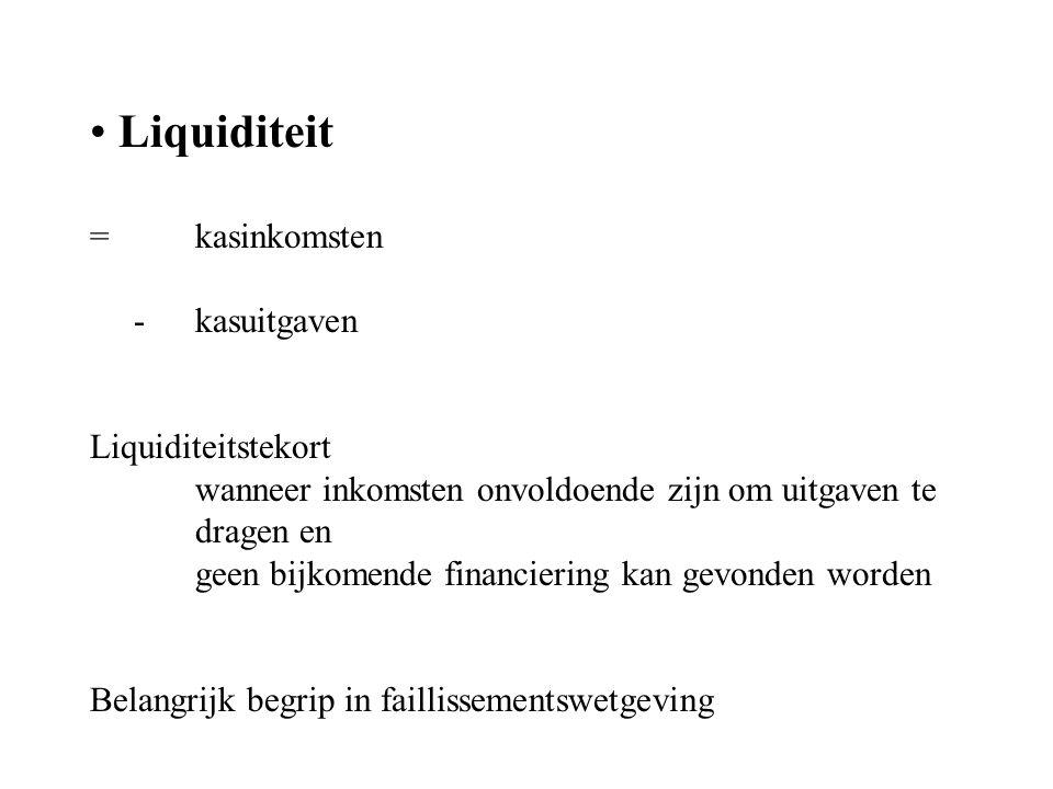 Solvabiliteit = mate waarin een onderneming in staat is haar financiële verplichtingen i.v.m.