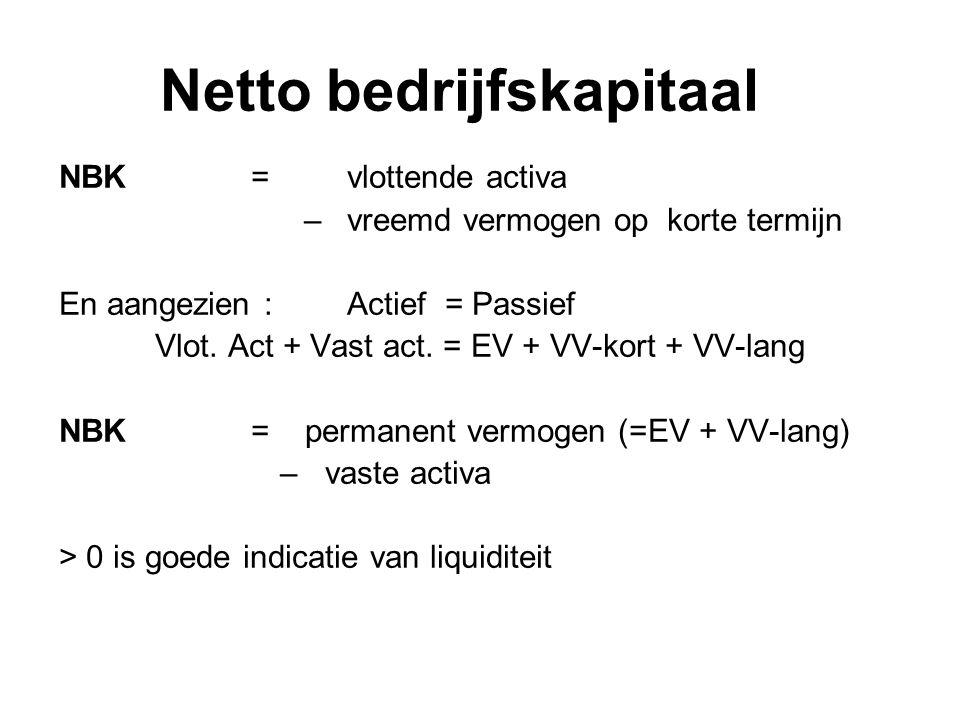 Ratio-analyse Liquiditeit Solvabiliteit Rendabiliteit