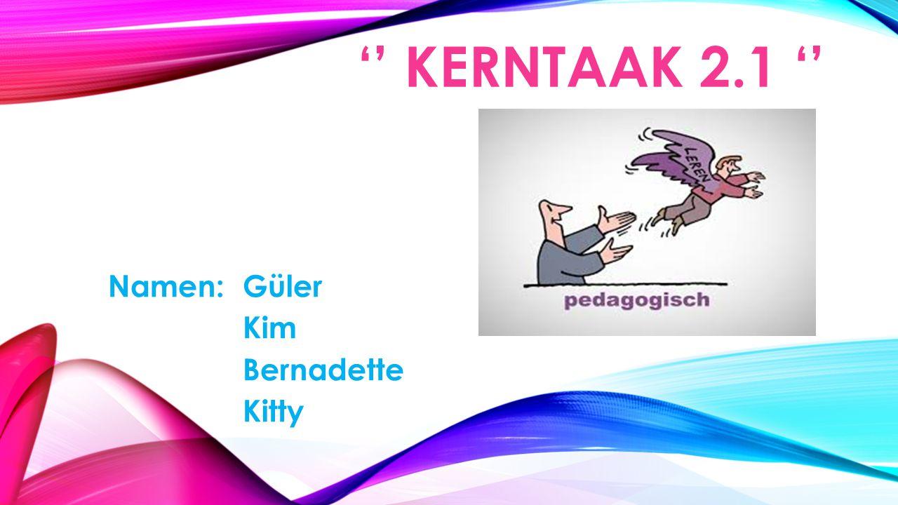 '' KERNTAAK 2.1 '' Namen:Güler Kim Bernadette Kitty