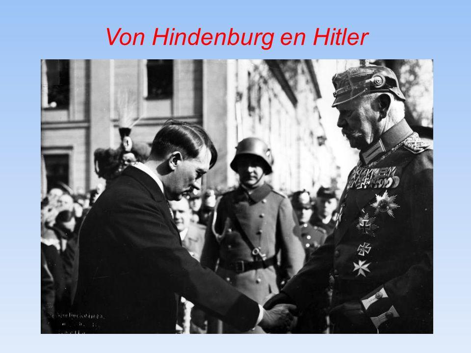 Von Hindenburg en Hitler