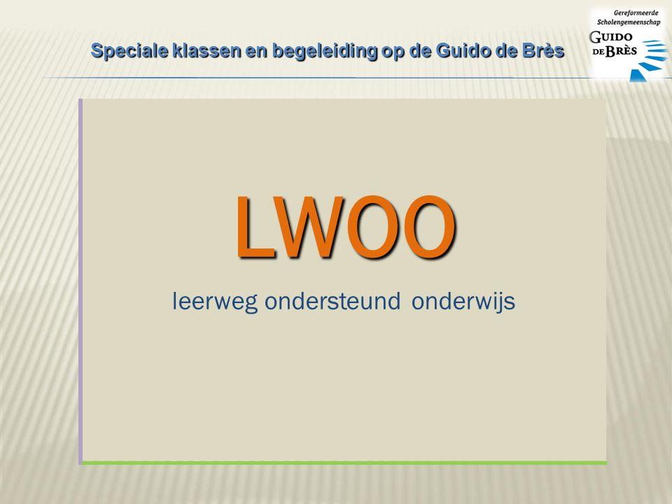 LWOO leerweg ondersteund onderwijs Speciale klassen en begeleiding op de Guido de Brès