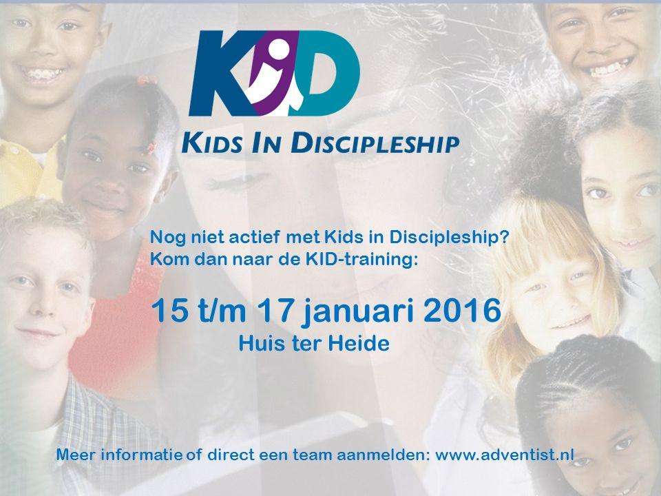 Nog niet actief met Kids in Discipleship.