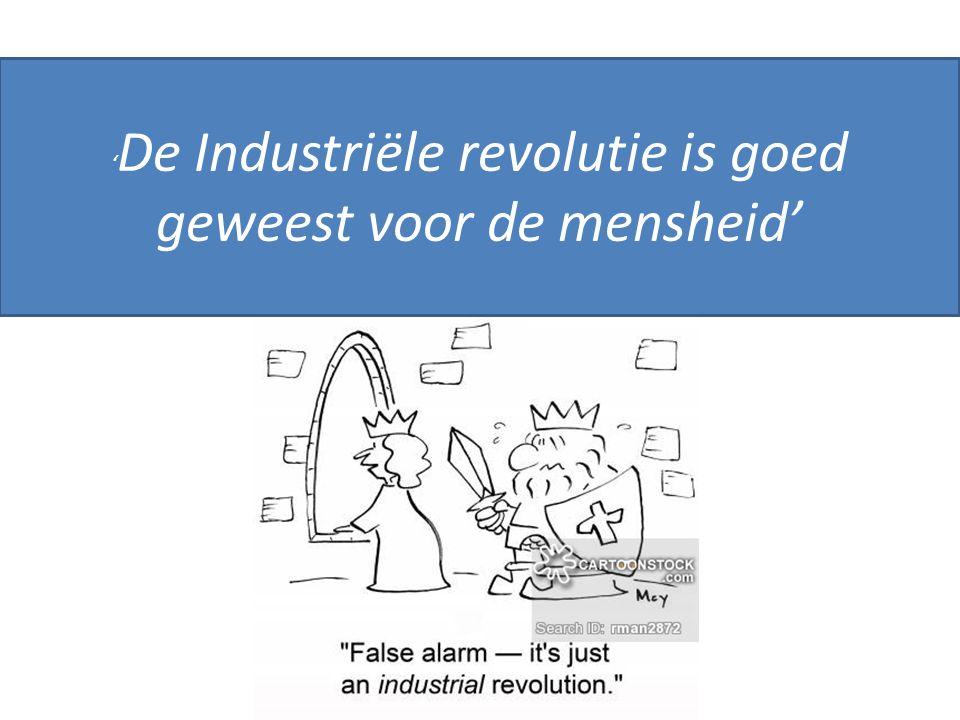 ' De Industriële revolutie is goed geweest voor de mensheid'
