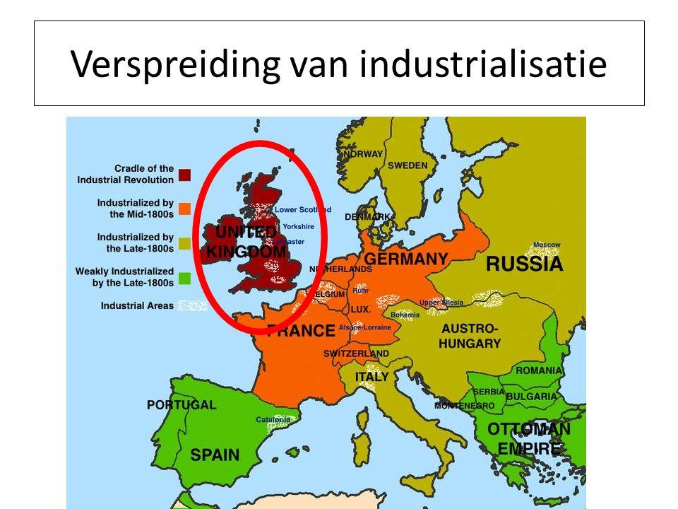 Waarom start van de Industriële Revolutie in Engeland.