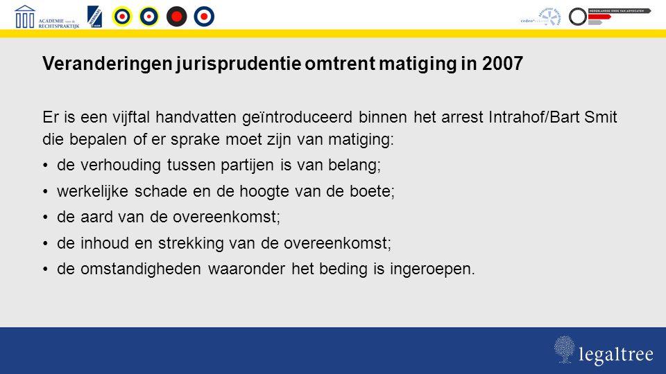 Jurisprudentie omtrent matiging boete te late oplevering anno nu RvA 9 januari 2013, nr.