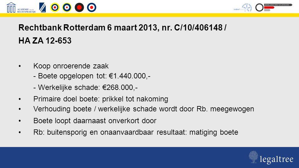 Rechtbank Rotterdam 6 maart 2013, nr.