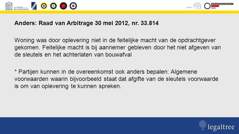 UAV 2012, AVA 1992: Stellen niet de eis dat het werk ter beschikking moet worden gesteld aan de opdrachtgever.
