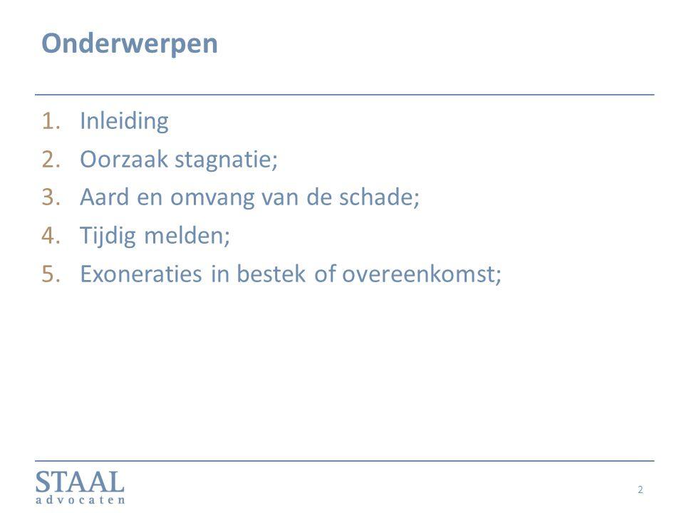 1.Inleiding Wanneer recht op vergoeding van vertragingsschade.