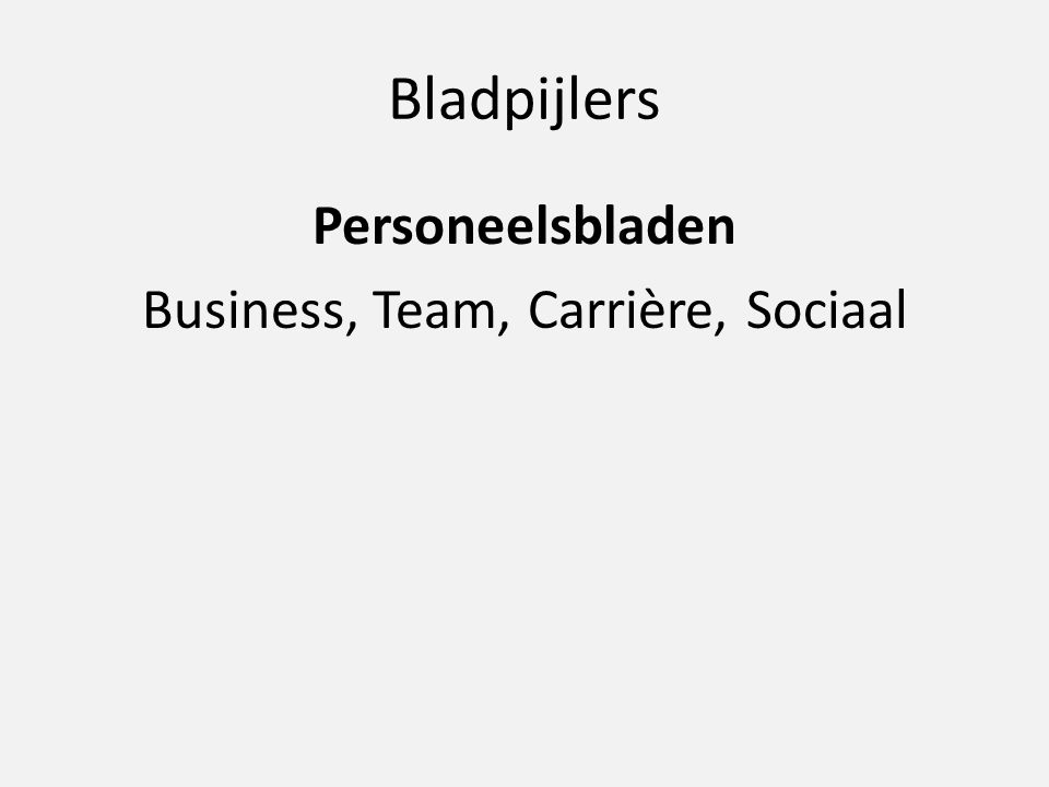Bladpijlers Personeelsbladen Business, Team, Carrière, Sociaal