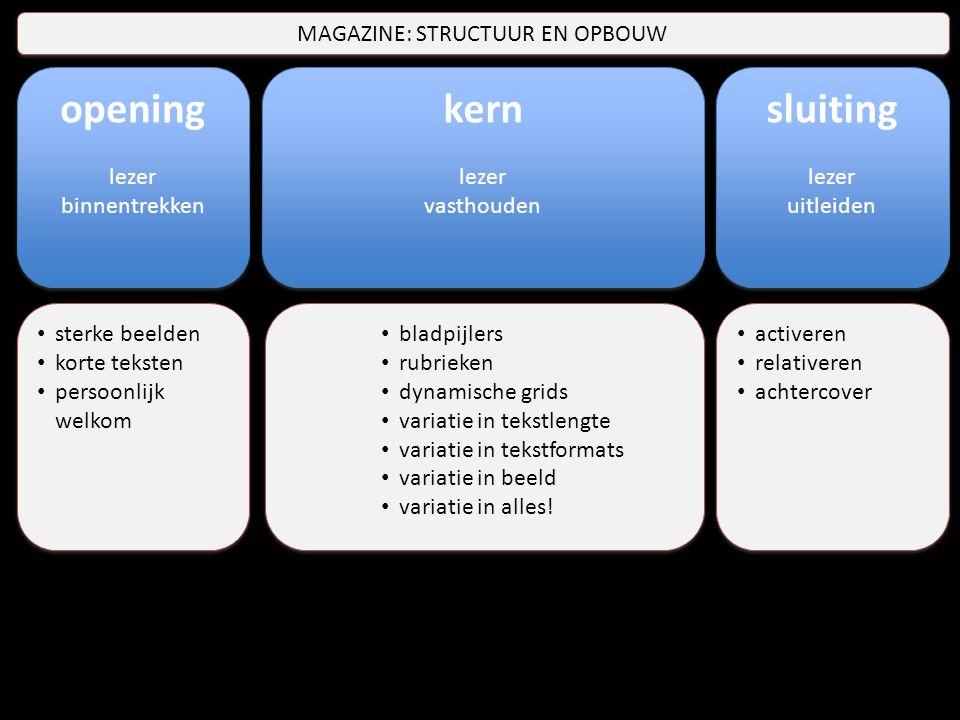 kern lezer vasthouden kern lezer vasthouden opening lezer binnentrekken opening lezer binnentrekken sluiting lezer uitleiden sluiting lezer uitleiden