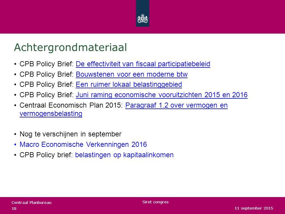 Centraal Planbureau Achtergrondmateriaal CPB Policy Brief: De effectiviteit van fiscaal participatiebeleidDe effectiviteit van fiscaal participatiebel