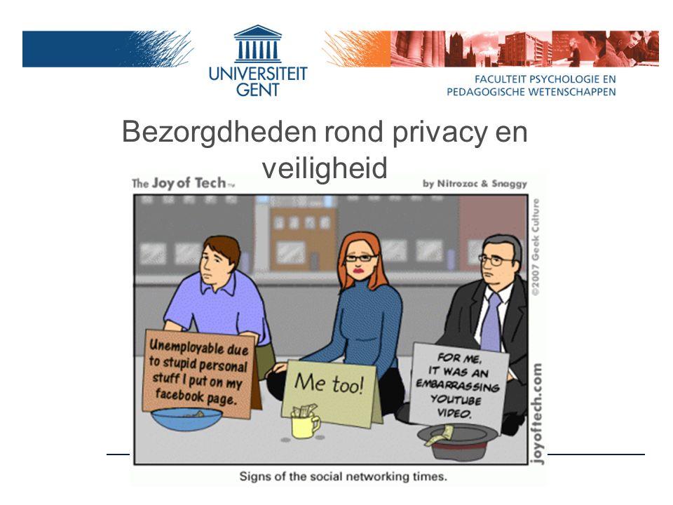 Bezorgdheden rond privacy en veiligheid