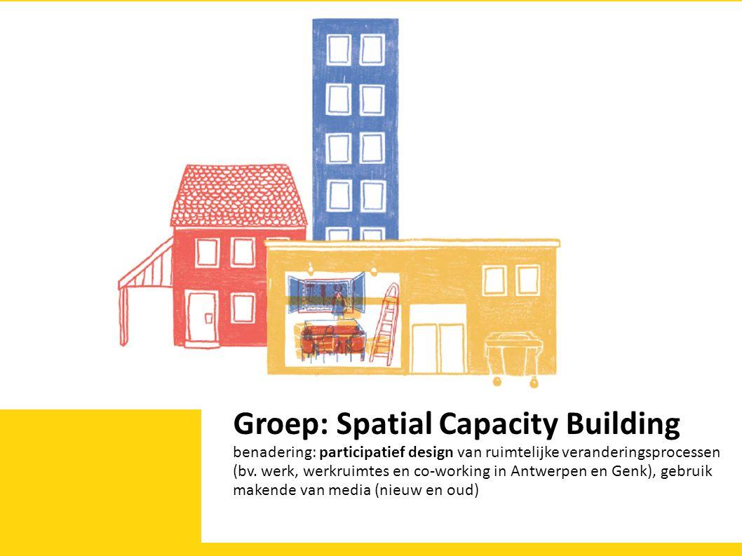 Groep: Spatial Capacity Building benadering: participatief design van ruimtelijke veranderingsprocessen (bv.
