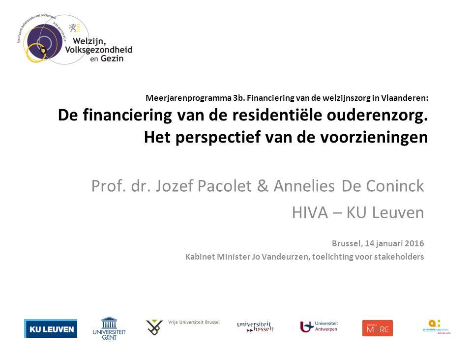 Meerjarenprogramma 3b. Financiering van de welzijnszorg in Vlaanderen: De financiering van de residentiële ouderenzorg. Het perspectief van de voorzie