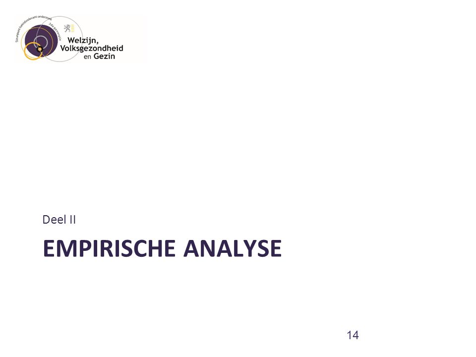 EMPIRISCHE ANALYSE Deel II 14