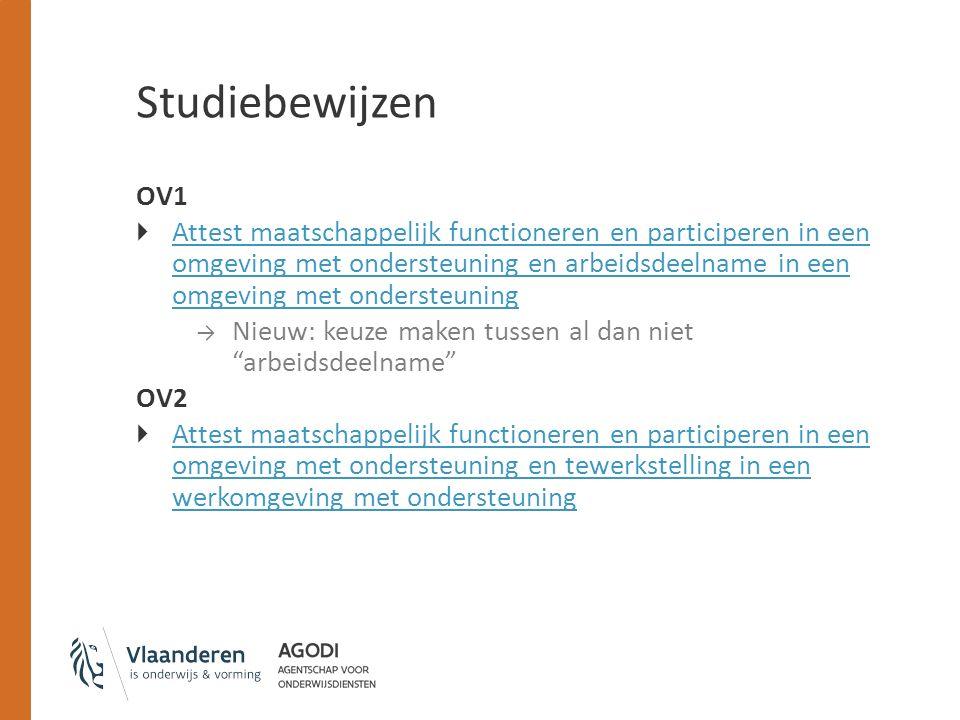 OV1  Attest maatschappelijk functioneren en participeren in een omgeving met ondersteuning en arbeidsdeelname in een omgeving met ondersteuning Attes