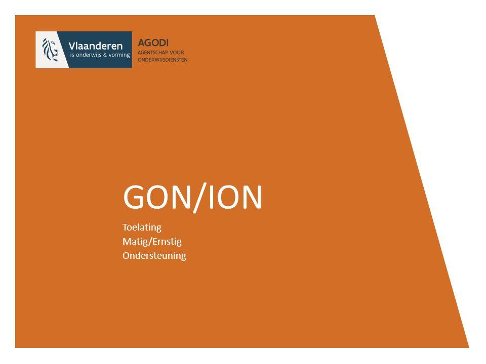 GON/ION Toelating Matig/Ernstig Ondersteuning