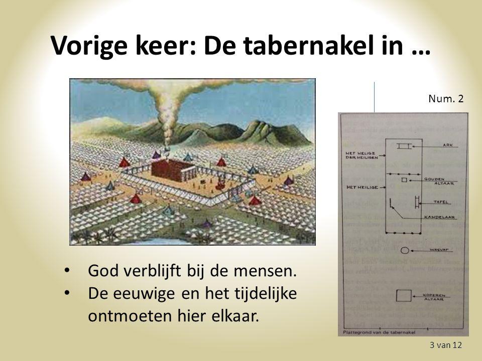 Vorige keer: De tabernakel in … 3 van 12 Num. 2 God verblijft bij de mensen.