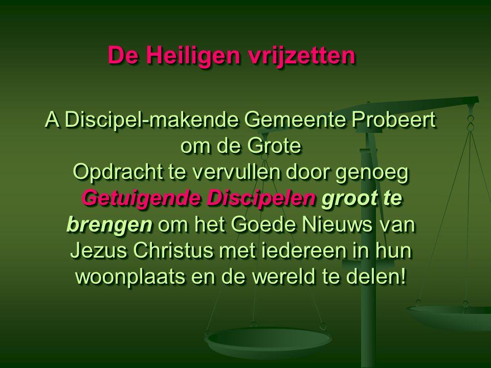 Hoeveel Discipelen and Discipel- Makers Heb Je Nodig.
