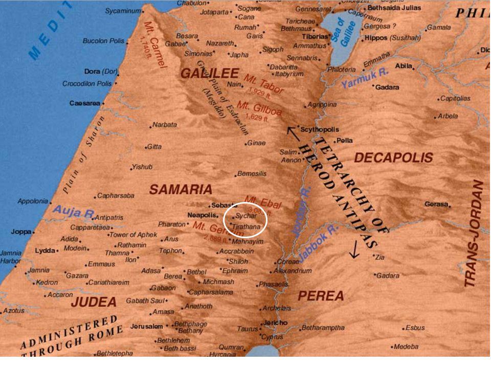 Johannes 4 7 Er kwam een vrouw uit Samaria om water te putten.