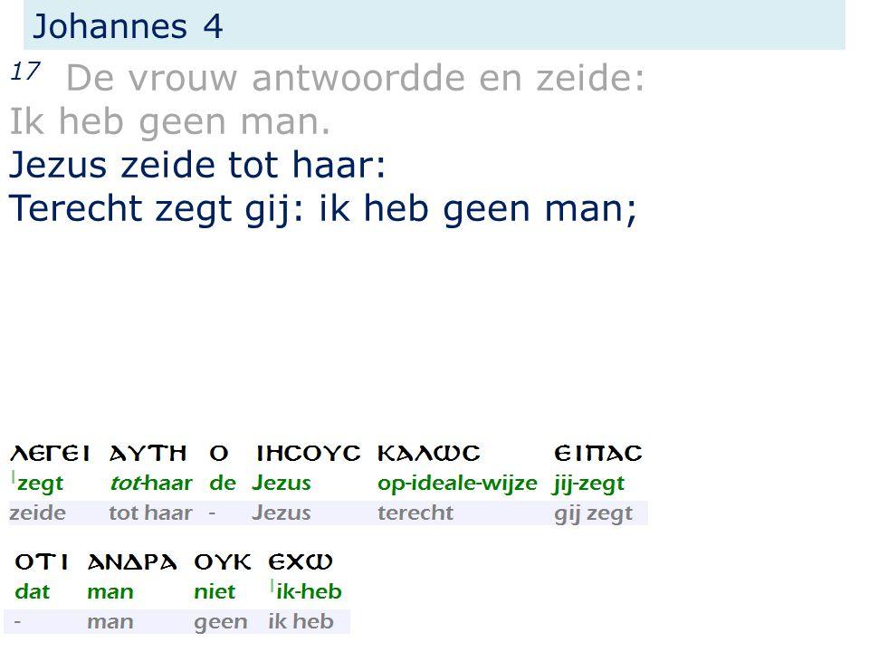 Johannes 4 17 De vrouw antwoordde en zeide: Ik heb geen man.