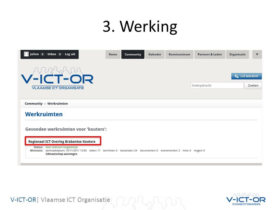 V-ICT-OR| Vlaamse ICT Organisatie 3. Werking