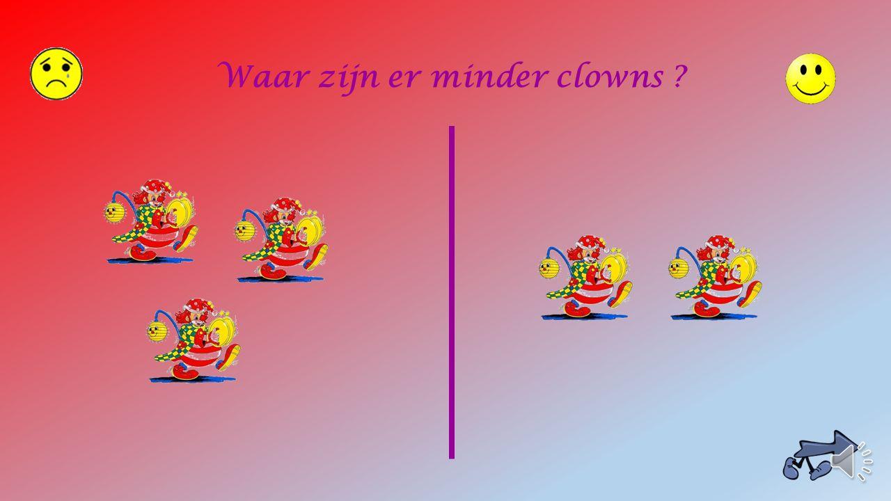 Waar zijn er minder clowns ?